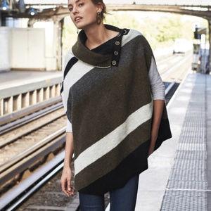 Anthro Tabitha Transverse Poncho Sweater M